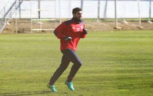 Lluís Sastre (30) hace carrera continua durante un entrenamiento con...