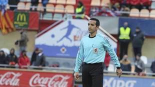 El andaluz Pérez Montero, durante el partido de Reus en el que...