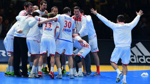 Los jugadores croatas celebran la clasificación para las semifinales
