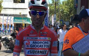Egan Bernal, esta semana durante la Vuelta a San Juan.