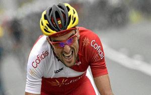 Luis �ngel Mat� durante una etapa del Tour de Francia de 2014.