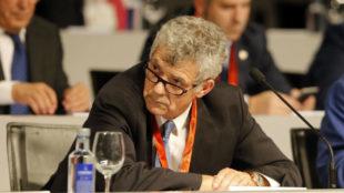 Villar, durante una asamblea de la RFEF