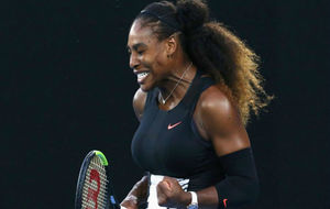 Serena celebra la victoria
