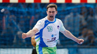 Darko Cingesar celebra un gol.