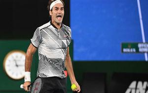 Federer celebra el triunfo