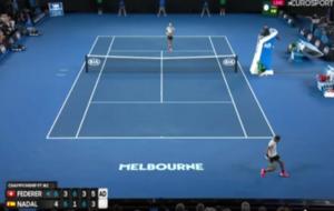 El punto definitivo para la victoria de Federer