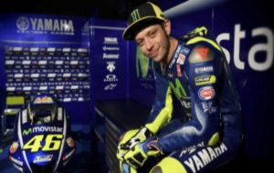 Valentino Rossi, durante la presentaci�n de Yamaha