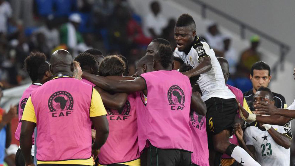 Ghana celebra su pase a semifinales