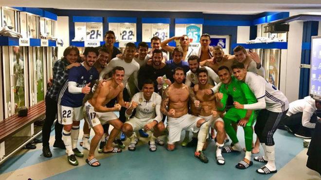 عکس/ رختکن رئال پس از پیروزی شیرین برابر رئال سوسیه داد