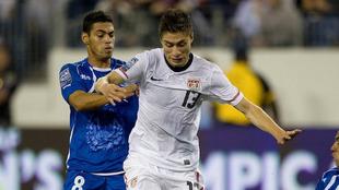 Jorge Villafaña durante su debut con la selección estadounidense