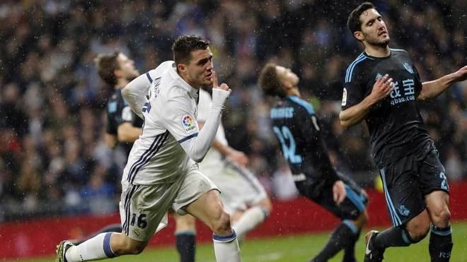 Kovacic, tras marcar ante la Real el pasado domingo.
