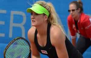 Tereza Martincova durante un partido.