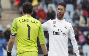 Casillas y Ramos, durante su etapa de compañeros en el Real Madrid