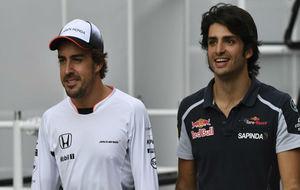 Fernando Alonso y Carlos Sainz, durante la pasada temporada de F1