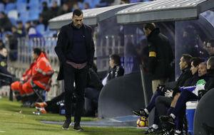 Raúl Agné durante el último partido contra el Lugo.