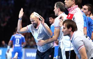 Babic y Metlicic durante la semifinal del Mundial ante Noruega