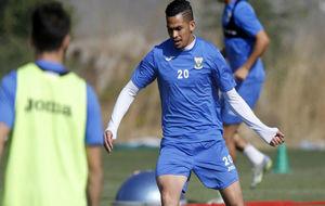 Luciano en un entrenamiento con el Leganés.