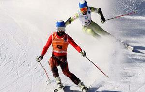 Miguel Galindo y Jon Santacana en el Mundial de Tarvisio.