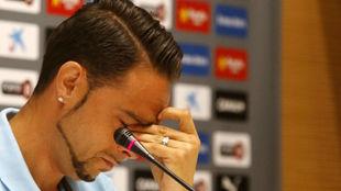 Sergio Garc�a, en su despedida del Espanyol.
