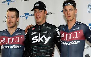 Danny Van Poppel, en el podio junto a Jones y Frame.