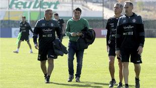 Braulio Vázquez, junto a Paco Herrera y el reto del equipo técnico...