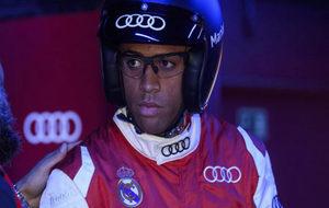 Mariano, vestido de piloto en un acto del Madrid
