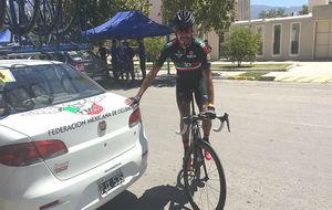 Juan Pablo Magallanes, la semana pasada en la Vuelta a San Juan.