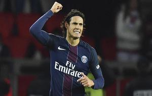 Cavani celebrando un gol ante el Mónaco.