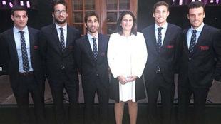 El equipo español, en la cena oficial