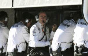Paddy Lowe, durante su etapa en Mercedes