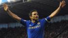Lampard, celebrando un gol en su etapa con el Chelsea.