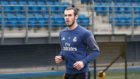 Bale, corriendo este jueves por Valdebebas