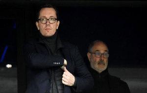 El presidente y Zubizarreta en uno de los partidos del Marsella