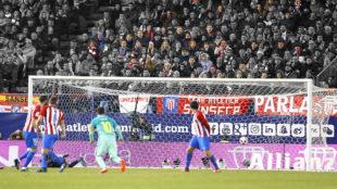 La reacci�n del p�blico al gol de Messi