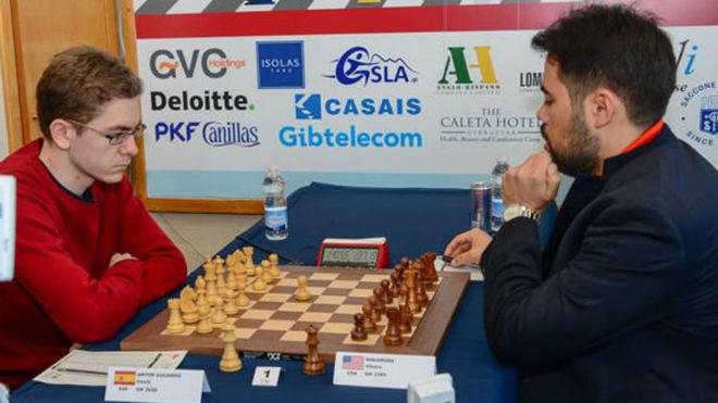 El español David Antón, durante una partida.
