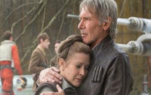 Carrie Fisher y Harrison Ford en 'Star Wars: El despertar de la...