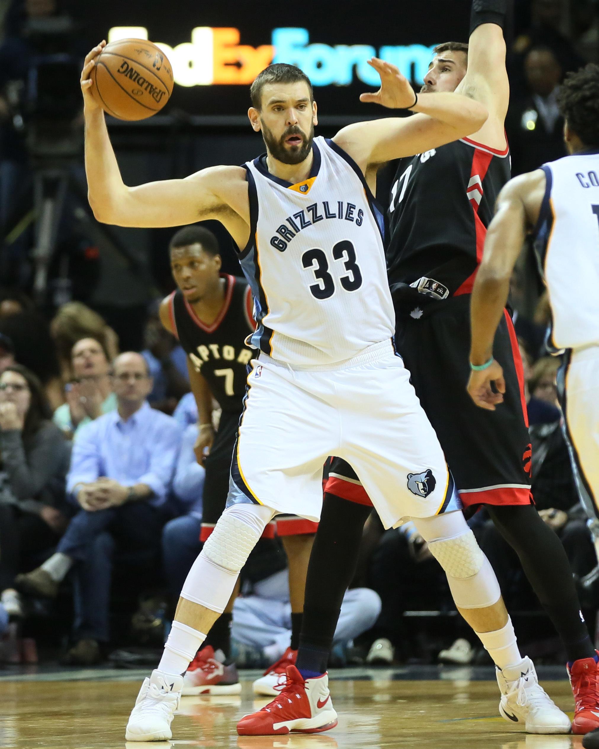 Marc Gasol jugando con los Grizzlies en la NBA