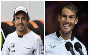 Fernando Alonso y Rafa Nadal.