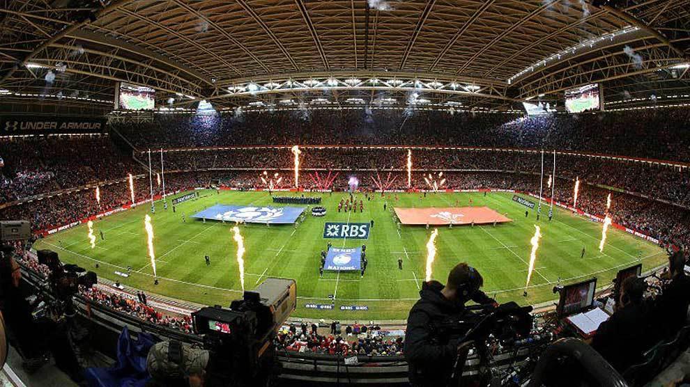 Espectacular imagen del Principality Stadium de Cardiff antes de un...