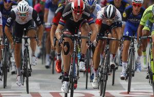 Magnus Nielsen, en una etapa de la Vuelta a Espa�a.