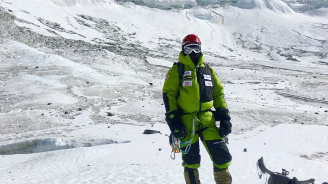 Txikon, en el Everest.