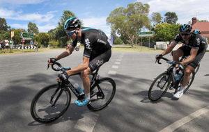 Chris Froome en la tercera etapa del Herald Sun Tour.