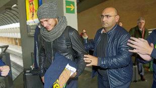 Imagen del regreso de Zozulya a Sevilla en la tarde del viernes