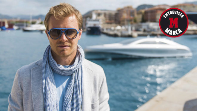 Nico Rosberg, en el puerto de Ibiza.