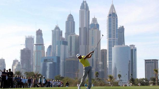 Sergio García en la última jornada de Dubái.