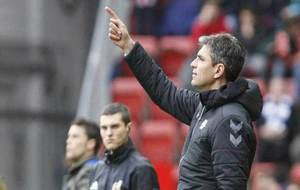 Pellegrino, durante el partido ante el Sporting.