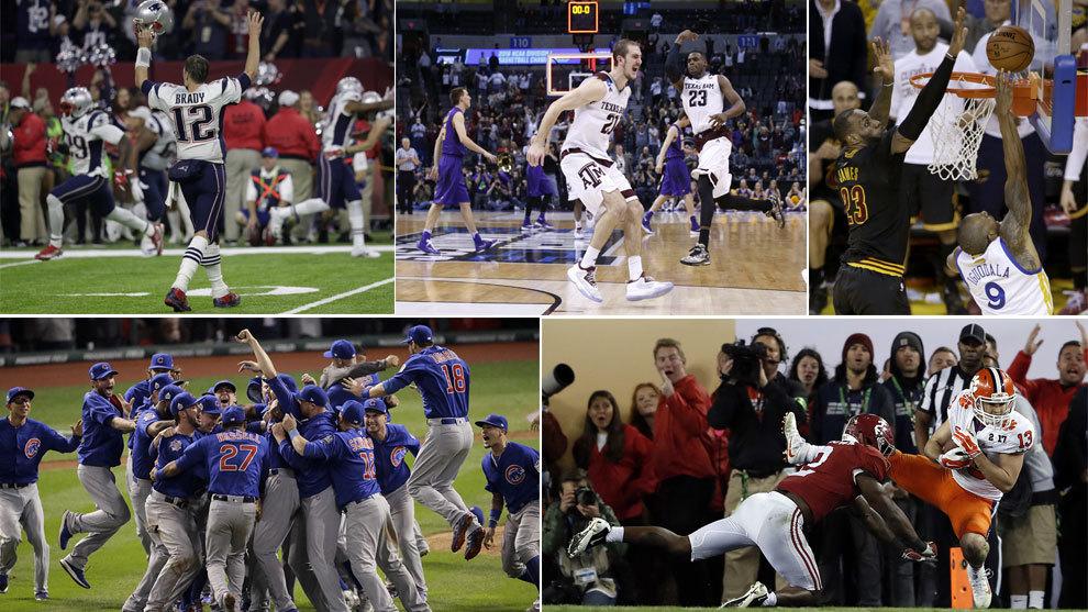 Cubs, Patriots, Cavs, Aggies y Tigers lograron grandes regresos en el...