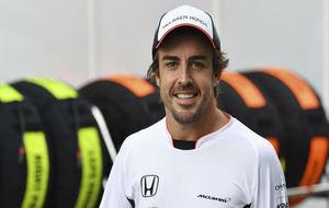 Fernando Alonso, en el GP de Brasil de 2016.