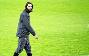 Georgios Samaras, durante un entrenamiento hace un par de años con el...
