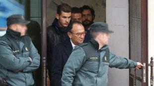 Lucas Hern�ndez, en libertad tras ser detenido por una denuncia de...